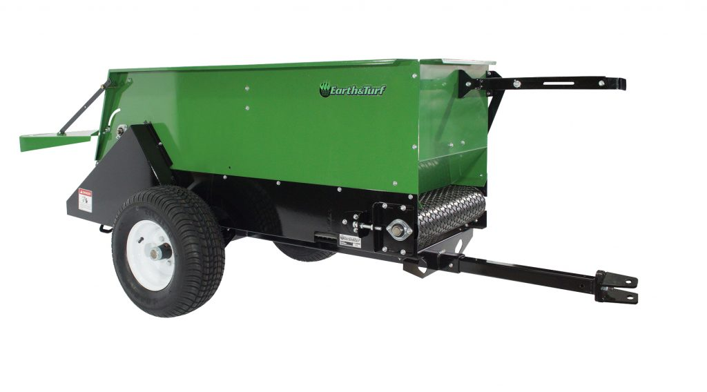 multispread 220 topdresser pull type earth and turf with spacing