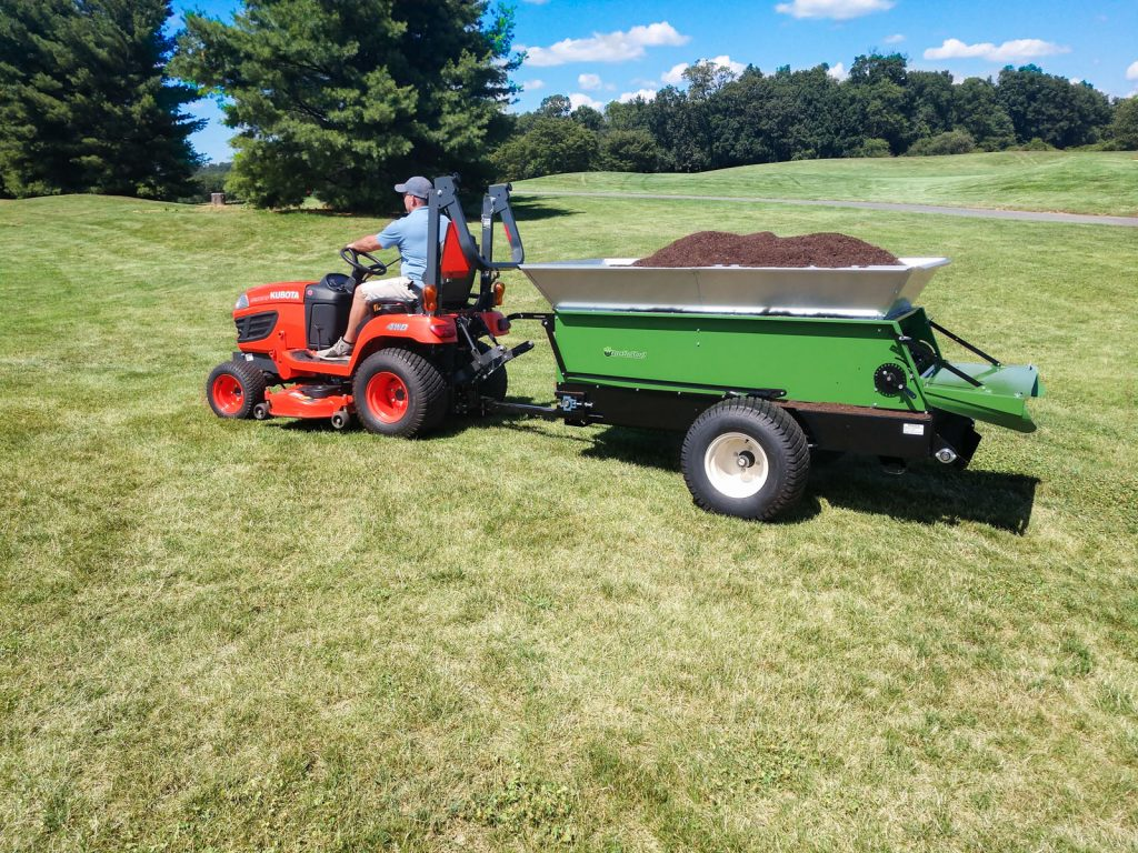 with compostearth and turf multispread 320 topdresser for landscapers municipalities schools universities