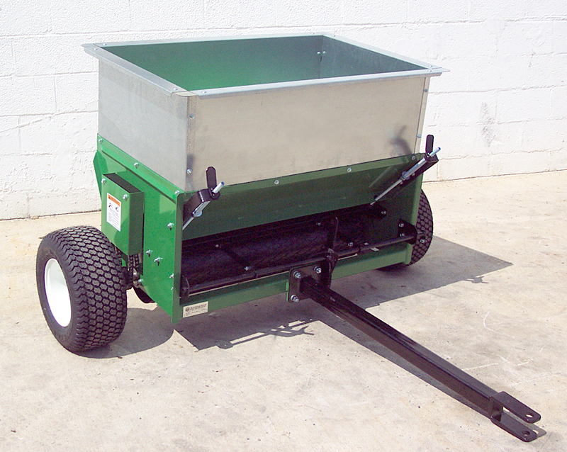 earth and turf truflow 36d topdresser front