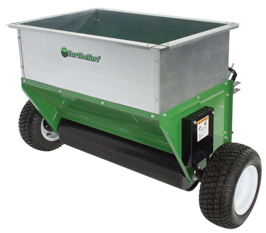 tow-behind drop spreader