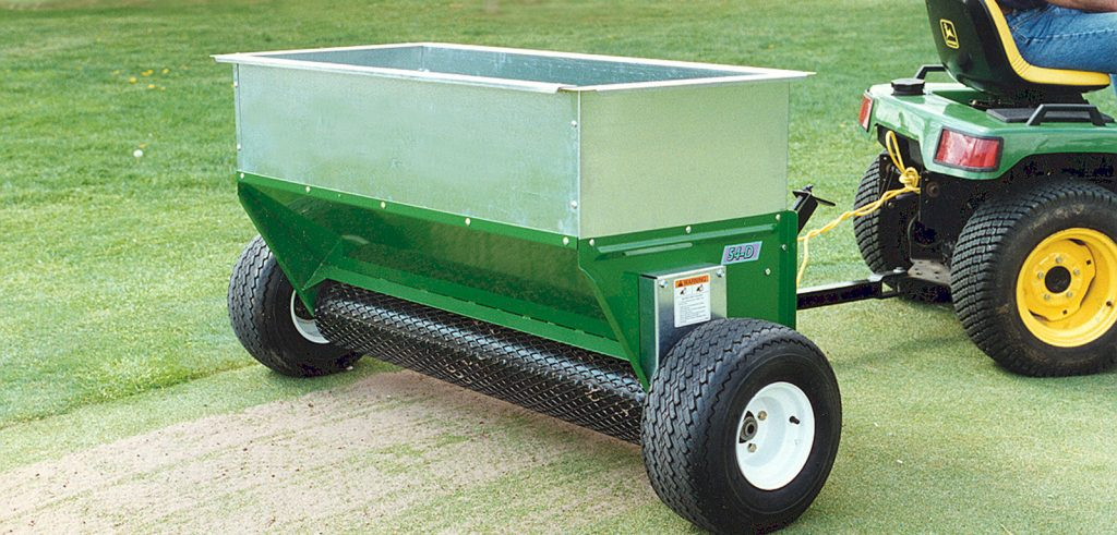 truflow 54d topdresser earth and turf banner image